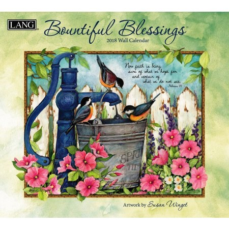 "2018 Lang Wall Calendar - ""Bountiful Blessings"""