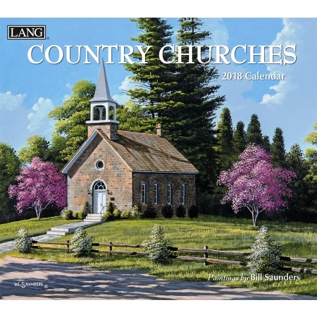 "2018 Lang Wall Calendar - ""Country Churches"""
