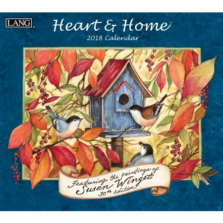 "2018 Lang Wall Calendar - ""Heart & Home"""