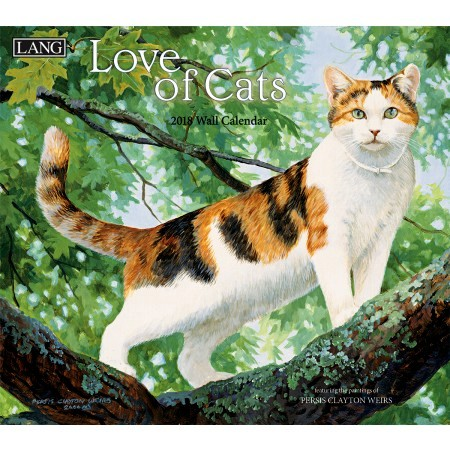 "2018 Lang Wall Calendar - ""Love of Cats"""