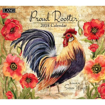"2018 Lang Wall Calendar - ""Proud Rooster"""