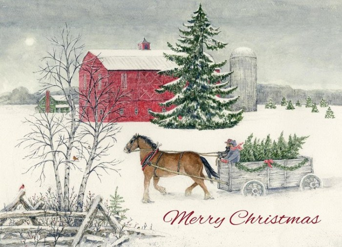 "2018 Legacy Boxed Christmas Cards - ""Christmas Wagon"""