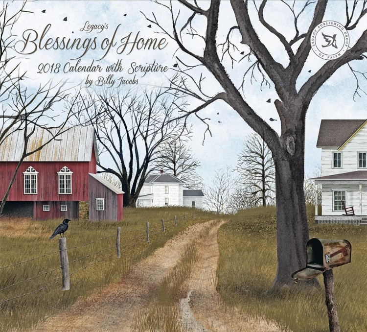 """2018 Legacy Wall Calendar - """"Blessings Of Home"""""""