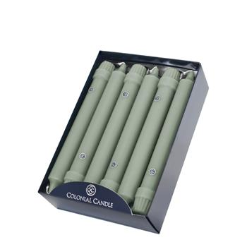 Colonial Candle - 8in Classic Tapers - Colonial Green