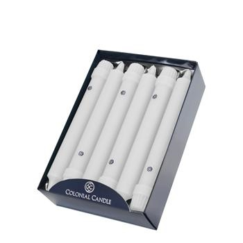 Colonial Candle - 8in Classic Tapers - White