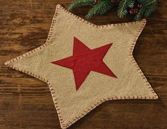 "Accent Mat - ""Burlap Star"""