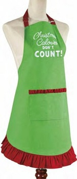 "Apron - ""Christmas Calories Don't Count"""