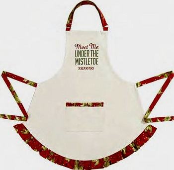"Apron - ""Meet Me Under The Mistletoe Apron"""