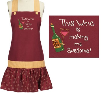 """Apron - """"This Wine Is Making Me Awesome Apron"""""""