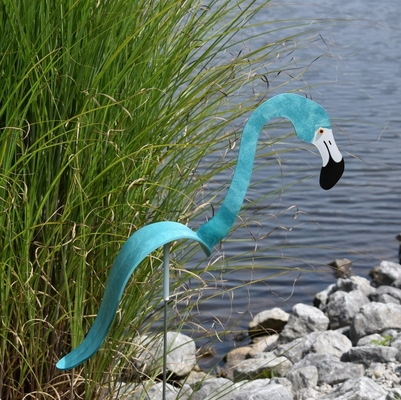 Aqua Flamingo Dancing Bird® - Decorative Garden Stake