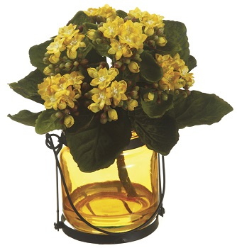 "Artificial Arrangement - ""Kalanchoe"" - Yellow"