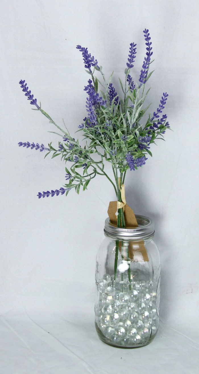 "Artificial Bush - ""Flocked Lavender"""