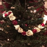 "Artificial Christmas Tree Garland - ""Popcorn & Cranberry Garland"" 6ft."
