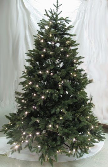 "Artificial Christmas Tree  - ""Pre-lit LED Woodland Spruce Tree"" -  6 ft."