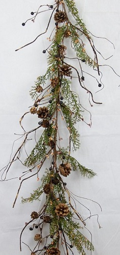 "Artificial Garland - ""Country Cedar Garland"" - 4 ft"