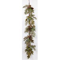 "Artificial Garland - ""Feather Pine Garland"" - 4 ft"