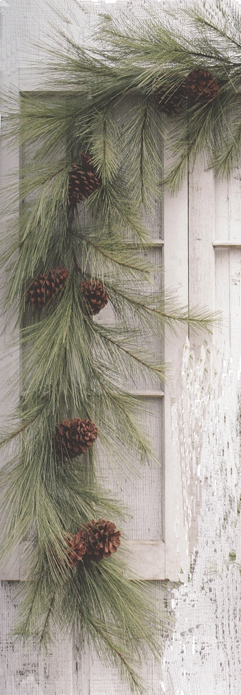 "Artificial Garland - ""Mixed Needle Pine Garland"" - 6 ft"