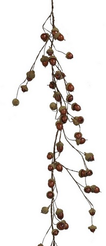 "Artificial Garland - ""Natural Acorn Garland"" - 4'"