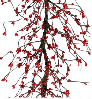 "Artificial Garland - ""Red Pip Berry Garland"" - 5'"