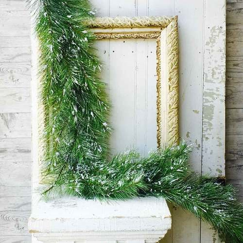 Silver Fir Pine Garland With Snow - 6 Foot