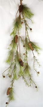 "Artificial Garland - ""Woodland Pine Needle Garland"" - 4 ft"