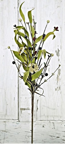 """Artificial Pick - """"Mixed Country Flower Pick - Teastain"""" - 16"""""""