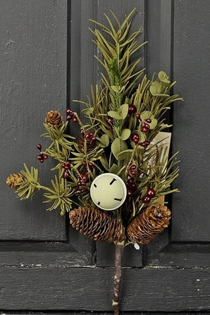"""Artificial Stem - """"Country Pine With White Bell"""" - 12"""""""