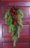 "Artificial Swag - ""Northern Soft Pine With Pine Cones Teardrop Swag"" - 36"""