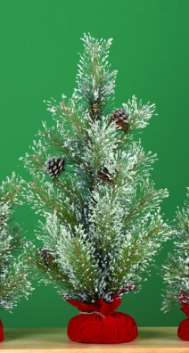 """Artificial Tree - """"Artificial Pine Tree In A Gift Bag"""" - Large 24"""""""
