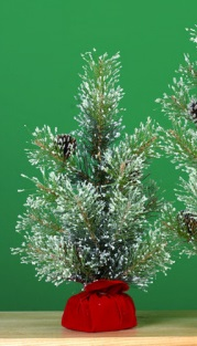 """Artificial Tree - """"Artificial Pine Tree In A Gift Bag"""" - Medium  18"""""""