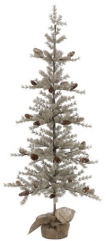 """Artificial Tree - """"Artificial Pine Tree with Ice"""" - 5'"""