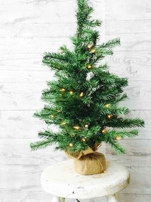 """Artificial Tree - """"Artificial Pine Tree With Lights"""" -2'"""