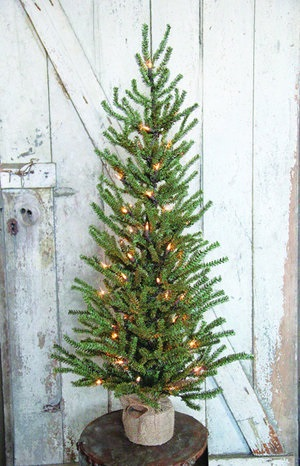 """Artificial Tree - """"Artificial  Slim Pine Tree with Lights"""" - 3'"""