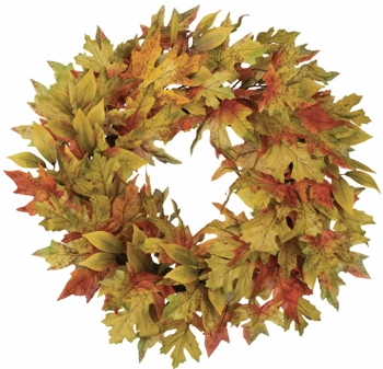 "Artificial Wreath - ""Autumn Mix Wreath"" - 22"""