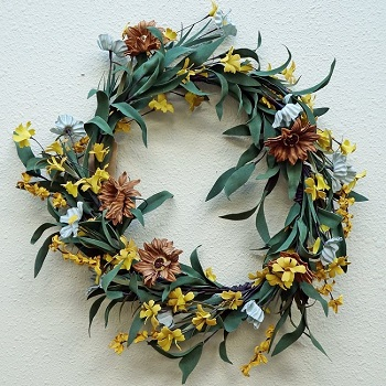 "Artificial Wreath - ""Daisy Wreath"" - 18"""