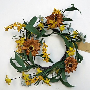 "Artificial Wreath - ""Daisy Wreath"" - 12"""