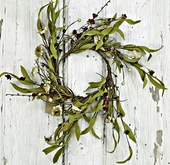 "Artificial Wreath - ""Mixed Flower Wreath - Teastain"" - 12"""