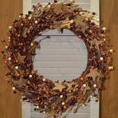"Artificial Wreath - ""Roughsawn Wreath"" - 18"""
