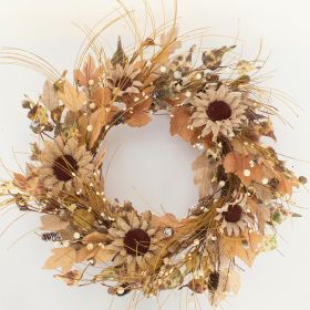 "Artificial Wreath - ""Sunflower Wreath"" - 18"""