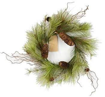 "Artificial Wreath - ""Woodland Pine Needle Wreath"" - 16"""