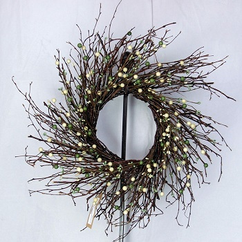 "Artificial Wreath - ""Sage & Cream Wreath"" - 20"""