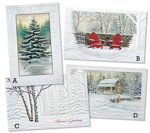 Assorted Boxed Christmas Cards Scenes Of Winter