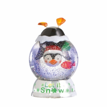"Battery Operated Shimmer Dome - ""Battery Operated Shimmer Penguin Dome"""
