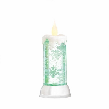 Seasonal lighting accents for Shimmer pillar candle