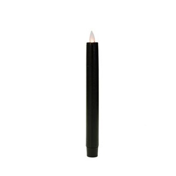 Battery Operated Taper Candle - Mystique LED Candle - Black - 8in