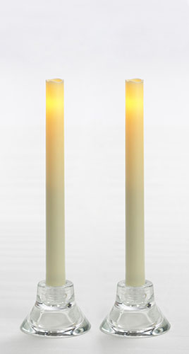 Flameless Taper Candle - Candle Impressions - Cream - 9in - 2pk