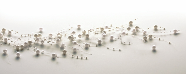"Beaded Garland - ""Cream/Ivory Pearl Beaded Garland"" - 5 ft."