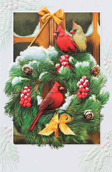"Boxed Christmas Cards - ""Cardinal Visitors"""