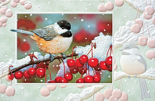 "Boxed Christmas Cards - ""Chicka-Berry-Berry"""