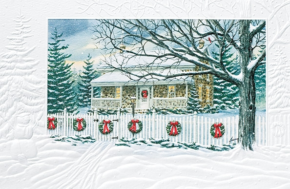 "Boxed Christmas Cards - ""Christmas Home"""